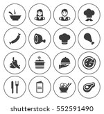 cooking icons  | Shutterstock .eps vector #552591490