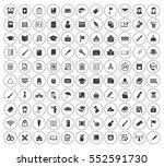 education icons set | Shutterstock .eps vector #552591730