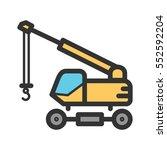 lifter crane | Shutterstock .eps vector #552592204