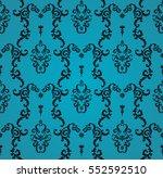vector seamless gold pattern... | Shutterstock .eps vector #552592510