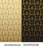 vector seamless gold pattern... | Shutterstock .eps vector #552592528