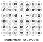 commerce icons set | Shutterstock .eps vector #552592948