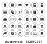 books icons set | Shutterstock .eps vector #552592984