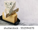 delicious variety of cheese on... | Shutterstock . vector #552594370