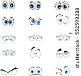 cartoon eyes | Shutterstock .eps vector #552598288
