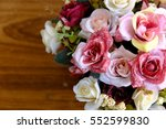 colorful artificial flowers... | Shutterstock . vector #552599830