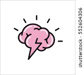 brainstorm creative idea flat... | Shutterstock .eps vector #552604306
