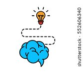 brainstorm creative idea flat... | Shutterstock .eps vector #552606340