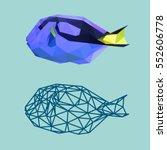 blue tang fish sea polygonal...   Shutterstock .eps vector #552606778