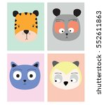 cute animals | Shutterstock .eps vector #552611863