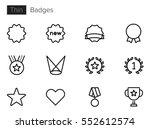 badges   achievements line... | Shutterstock .eps vector #552612574