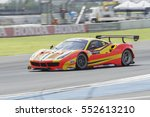 buriram  jun12  car racing on... | Shutterstock . vector #552613210