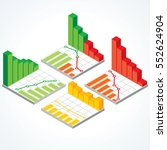 isometric set of various graphs ... | Shutterstock .eps vector #552624904