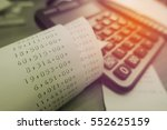 grocery shopping receipt and... | Shutterstock . vector #552625159
