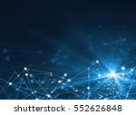 abstract connected dots on... | Shutterstock . vector #552626848