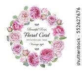 vintage floral greeting card...   Shutterstock . vector #552627676