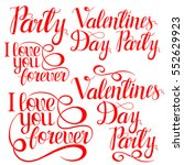 set of happy valentines day... | Shutterstock .eps vector #552629923