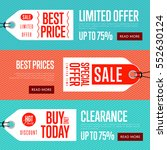 special offer discount banner... | Shutterstock .eps vector #552630124