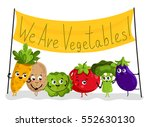 cute vegetable cartoon... | Shutterstock .eps vector #552630130