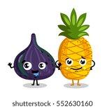 cute fruit cartoon characters... | Shutterstock .eps vector #552630160