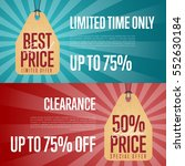 special offer discount banner... | Shutterstock .eps vector #552630184