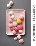 macarons and meringues on the... | Shutterstock . vector #552630904