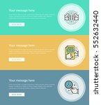 flat line business concept web... | Shutterstock .eps vector #552632440