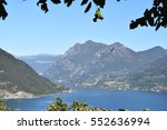 lake iseo and a glimpse of... | Shutterstock . vector #552636994