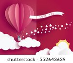 love invitation card valentine... | Shutterstock .eps vector #552643639