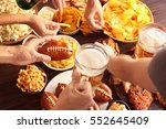 close up view of hands taking... | Shutterstock . vector #552645409