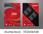 red vector annual report... | Shutterstock .eps vector #552646438