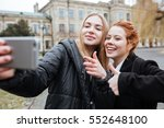 close up portrait of a two... | Shutterstock . vector #552648100