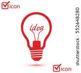 light lamp sign icon. idea... | Shutterstock .eps vector #552648280