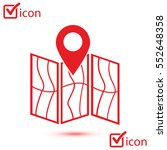 map icon. location symbol. flat ... | Shutterstock .eps vector #552648358