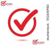 check list button icon. check... | Shutterstock .eps vector #552650983