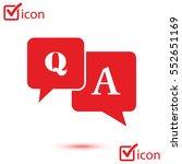 q a sign symbol. speech bubbles ... | Shutterstock .eps vector #552651169