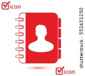 address book icon vector. flat...