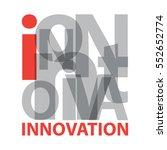 vector innovation. broken text | Shutterstock .eps vector #552652774