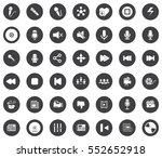 media icons | Shutterstock .eps vector #552652918