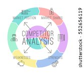 competitor analysis ... | Shutterstock .eps vector #552656119