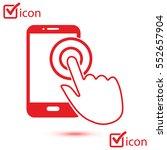 touch screen smartphone sign... | Shutterstock .eps vector #552657904