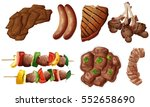 different kinds of meals with... | Shutterstock .eps vector #552658690