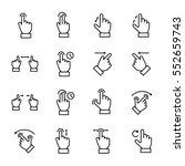 set of gesture in modern thin... | Shutterstock .eps vector #552659743