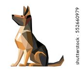 Stock vector dog german shepherd breed sitting vector illustration 552660979