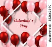 valentine s day poster with red ... | Shutterstock .eps vector #552661990