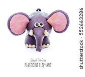 plasticine cartoon elephant | Shutterstock . vector #552663286