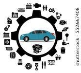 car repair engine vector | Shutterstock .eps vector #552667408