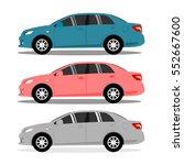 car icon vector. | Shutterstock .eps vector #552667600