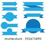 set vector ribbons banners flat ... | Shutterstock .eps vector #552671890