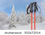 skiing in mountains  close up... | Shutterstock . vector #552672514